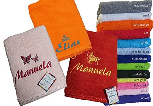 Premium Qualität Handtuch 50x100cm mit Namen & Motiv Bestickt (50x100cm (Handtuch))