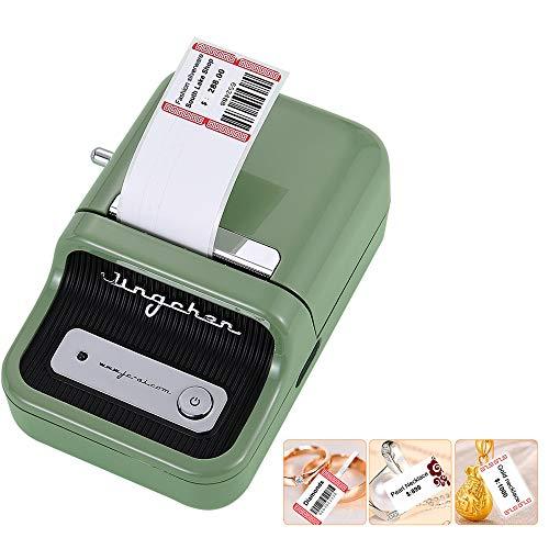Aibecy Impresora de etiquetas Impresora de etiquetas portátil inalámbrica BT térmica para impresoras de etiquetas con reconocimiento RFID Ideal para etiquetar códigos de barras Precio Nombre Impresión