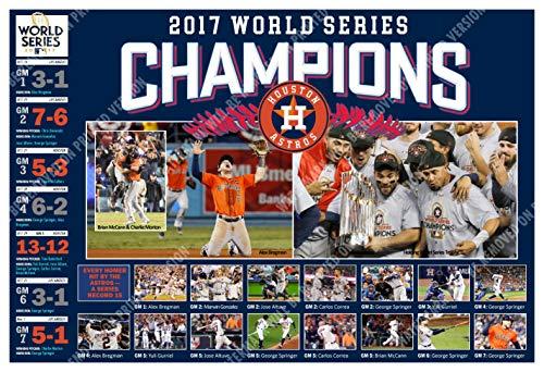 "Houston Astros Win The 2017 World Series 19""x13"" Commemorative Poster"