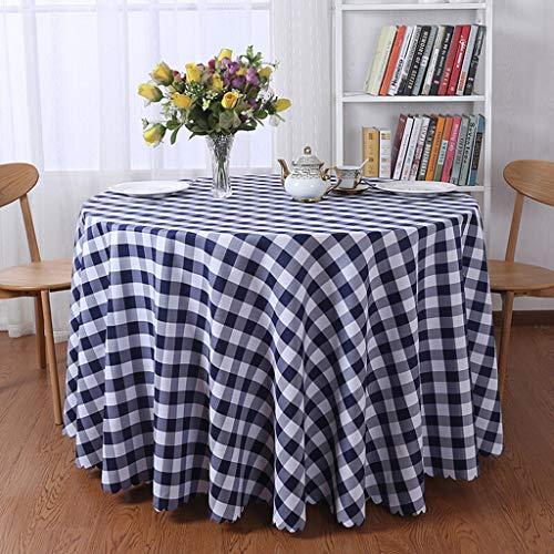 Tabel Rokken Ronde Weefsels Tafelkleed Wasbare tafel dekken for partij picknick tafelkleed (Color : Black, Size : Round 3m)