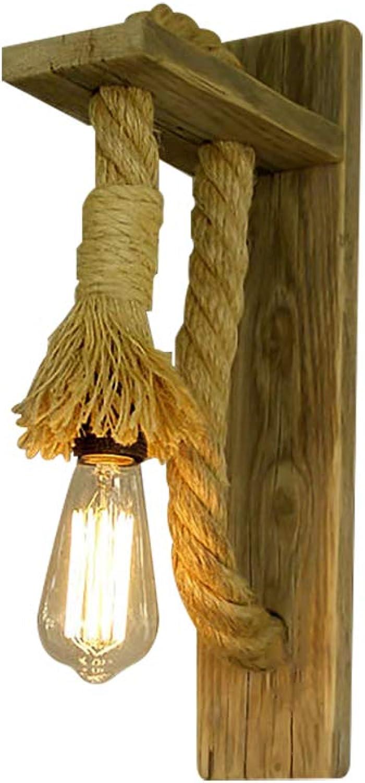 ahorra hasta un 50% BGTRRYHY Simple Cabeza de Madera Maciza Maciza Maciza Marco de Madera Maciza Apliques Estilo Pastoral Americano Cuerda de cáamo Restaurante Lámpara de Parojo Decorativa-Wood  compra en línea hoy