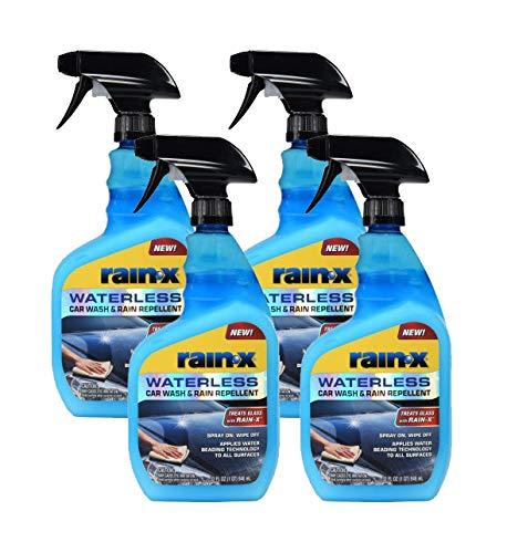Rain-X 620100 Waterless Car Wash & Rain Repellent, 23 oz. (Pack of 4)