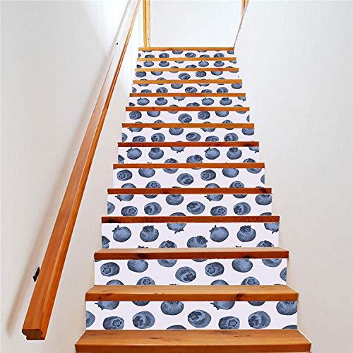 BBVS Blueberry Escalier Autocollant DIY Étapes Autocollant Amovible Décor À La Maison PVC Étanche Escalier Étapes Autocollants Chambre Salon Maison Design Style1(24Pcs)
