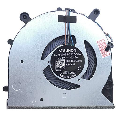 Fan Cooler Compatible with HP ProBook 650 G4 Model: EG75070S1-C420-S9A, P/N: 6033B0060801