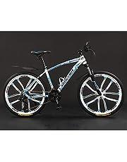 Mountainbike voor volwassenen, 26 inch 21/24/27/30 snelheden Fiets Volledig geveerde MTB-versnellingen Dubbele schijfremmen Variabele snelheid Fiets, koolstofstaal buitenshuis Trail Bike