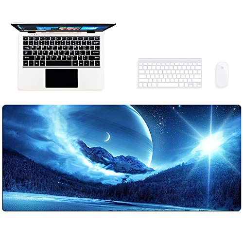Nileco Extended Large Mouse Mat Stitched Edges Thick Office Desk Pad Good Wrist Rest Support Mousepad,Anime Gaming Mouse Pad-F 90x40x0.4cm/35.4x15.7x0.15in