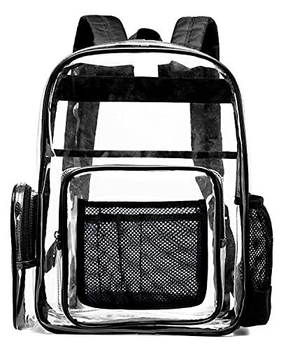 SPEEDEVE Mochila Bolso Escolar PVC Transparente estancas,Negro,L
