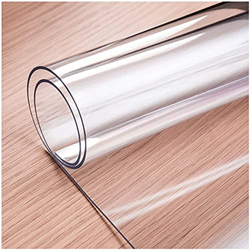 YQJ Mantel Transparente Grosor 1mm, Mantel Protector,Rectangular PVC Impermeable Resistente Aceite Resistente Altas Temperaturas,100x200cm/39.4x78.7in