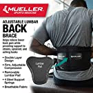Mueller 255 Lumbar Support Back Brace with Removable Pad, Black, Regular(Package May Vary) #3