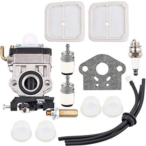 Kizut WYJ-192 Carburetor + Air Filter for Echo SRM2601 SRM2610 SRM270 SRM270U PE2601 PAS2601 Weed Eater Trimmer # 12300057730 Fuel Line Grommet Filter Tune Up Kit