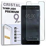 REY Protector de Pantalla para Nokia 5, Cristal Vidrio Templado Premium