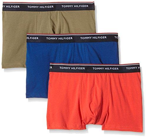 Tommy Hilfiger Trunk 3 pack premium essentials Calzoncillos, Multicolor (Dusky Green-Pt/Bittersweet/Limoges-P), Small (Pack de 3) para Hombre