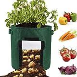 æ— 3 contenitori per la coltivazione di patate con lembo in feltro con manici, per coltivare carote, patate, cipolle, pomodoro