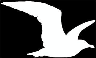 Samunshi® Möwe Tier Aufkleber Autoaufkleber Sticker für Auto Motorrad Wohnmobil Scheiben in 9 Größen und 25 Farben (10x6cm weiß)