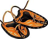 Cressi Swim Paddle Palas de natación, Negro/Naranja, Uni