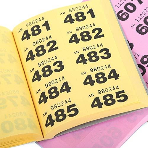 Sapphire Printers garderobe en wafel tickets - 1-1000 Tombola Teken genummerde liefdadigheid evenementen prijs trekken Lucky Draw