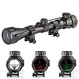 Aukmont 3-9X40 Red & Green Sniper Hunting Rifle Airgun Scope Telescopic Sight Illuminated 20mm Rail Mounts
