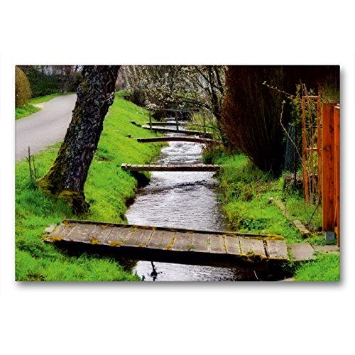 CALVENDO Premium Textil-Leinwand 90 x 60 cm Quer-Format Untere Höfe - Ortsteil Wasser, Leinwanddruck von Ingo Laue