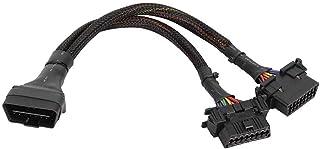 Qiilu OBD Splitter، 1 إلى 2 OBD موصل كابل Y كابل تمديد للسيارة