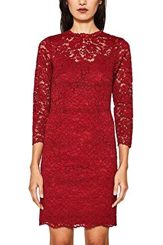 ESPRIT Collection Damen 117EO1E021 Partykleid, Rot (Dark Red 610), 40