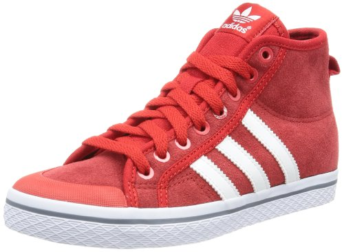 adidas Originals Honey Stripes M, Zapatillas Altas para Mujer, Rojo-Rot (LGTSCA/RUNWH), 38 EU