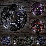 hxjie Rugby Union-Vinyl Horloge Murale, Jeu de Football Américain, Sports, Art, Décoration d'Intérieur, Fitness Professionnel, Calme avec LED