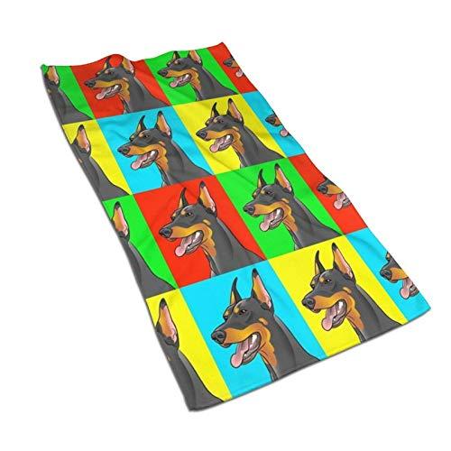 XCNGG Doberman Pinscher Perros Toalla de Cocina Toallas de Mano Personalizadas Toallas absorbentes Impresas para Platos Toalla de Microfibra para Gimnasio Toalla de té Toalla para Dedos 27.5x15.7in