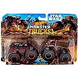 Hot Wheels Monster Trucks Demolition Doubles Star Wars Edition Darth Vader VS Chewbacca