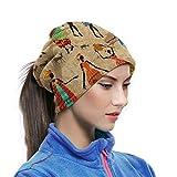 Odelia Palmer Vintage Mujeres africanas Danza étnica Unisex Calentador de Cuello Polaina pasamontañas máscara de esquí Clima frío mascarilla Sombreros de Invierno Sombreros para Hombres Mujeres