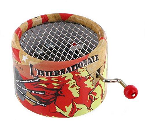 Caja de música / caja musical de manivela de cartón adornado - La internacional (Pierre Degeyter)