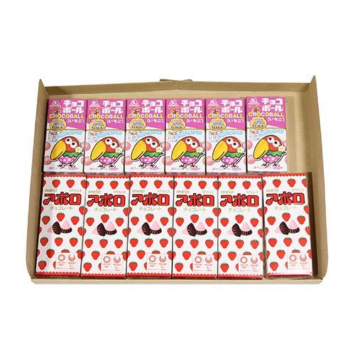 チョコボール いちご(6コ)& アポロ(6コ)セット
