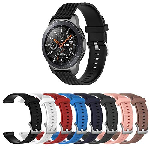 Pulseira TX Silicone para Samsung Galaxy Watch 46mm - Gear S3 Frontier - Gear S3 Classic - Gear 2 - Preto