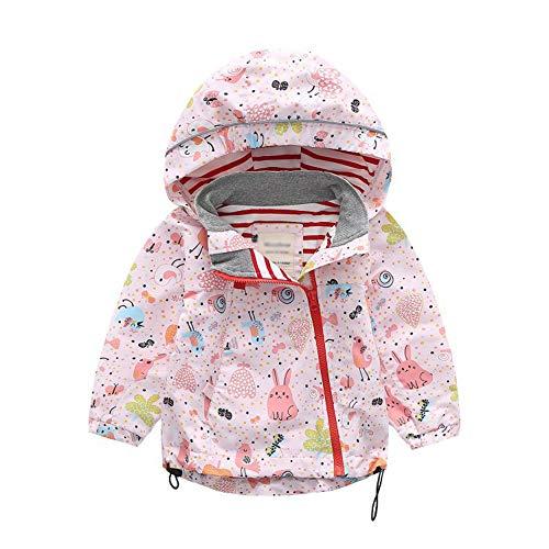 LAPLBEKE Baby Mädchen Regenjacke Kinder Jungen wasserdichte Winddicht Regenmantel Kapuzenjacken 86