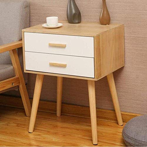 OJPOGHU Bedside Cabinet Table Nightstand Coffee Modern Storage Bedroom Home Furniture 2 Drawers Chest Simple Modern Bed Stand Living Home (Color : D, Size : 58 * 35 * 45CM)