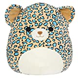Squishmallow Official Kellytoy Plush 16' Liv The Teal Leopard - Ultrasoft Stuffed Animal Plush Toy