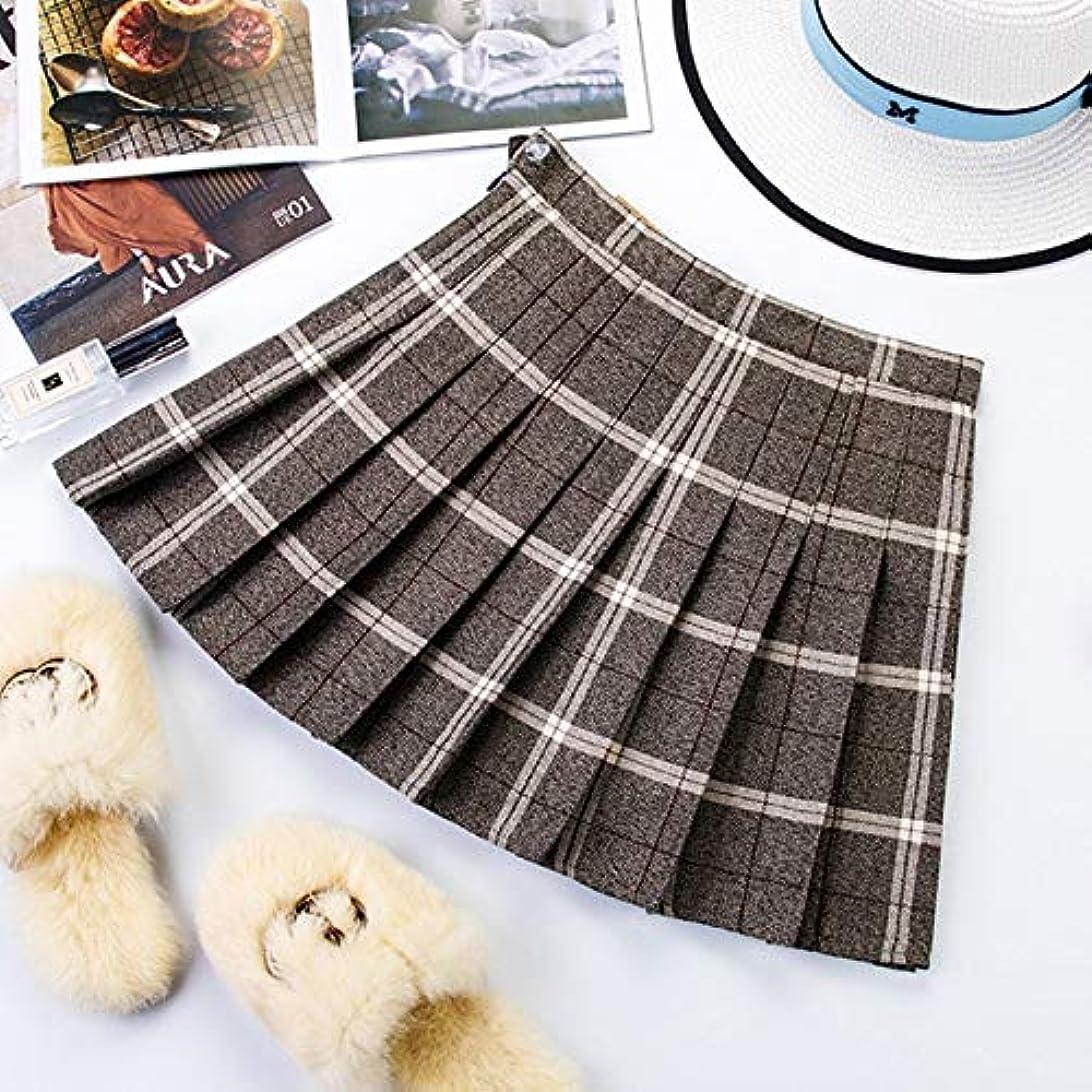 に応じて下線位置するYMKCBB 短いスカート プラスサイズのショートスカートチェック柄のスカートの女性のジッパーハイウエストのスクールガールプリーツチェック柄のスカートミニスカートXs Photo3