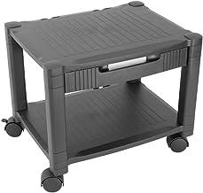 PrimeMatik - Mesa Auxiliar para Impresora Carro con Ruedas con pasacables