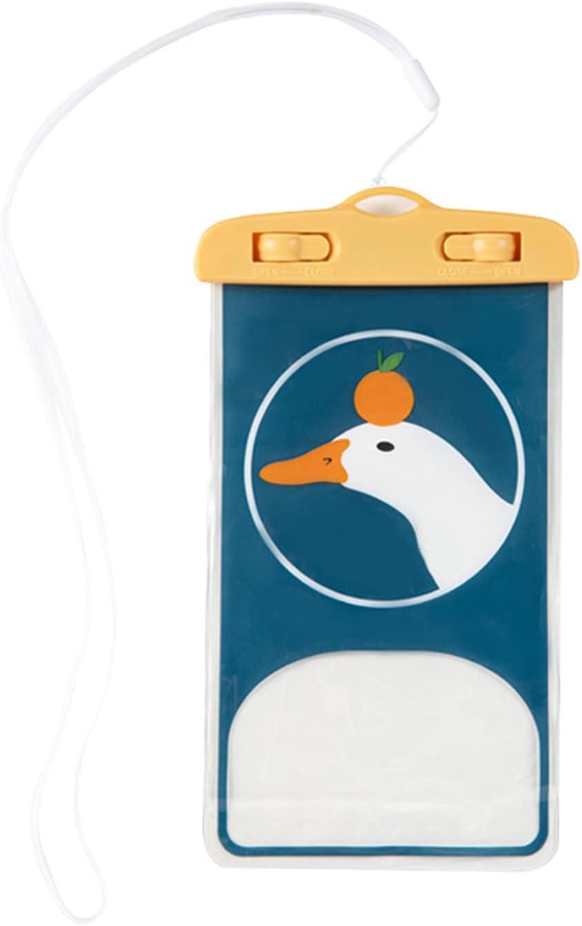Mhaun Mobile Phone Waterproof Bag Universal Phone Touch Screen Bag Cartoon Print Beach Waterproof Mobile Phone Bag Case Under Water Full Protection Swim Case IPX8 Cellphone Dry Bag