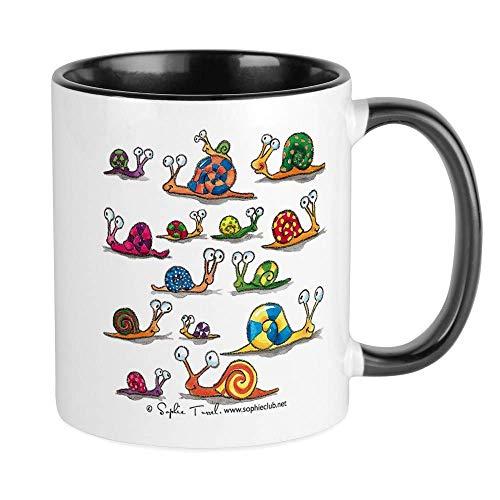 N\A ¡Los Caracoles abundan! Taza de Sophie Turrel Taza de café única, Taza de café