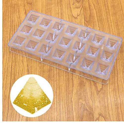 Lankater 3D-Pyramide Konditorei Mould Plastic Schokolade Platz Eiswürfel Süßigkeit Bakeware Pan