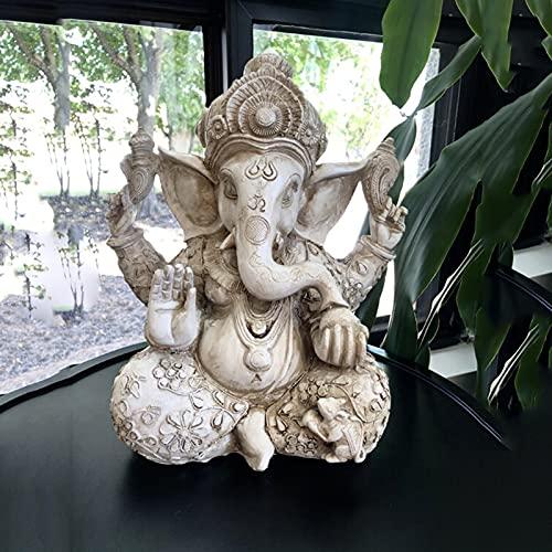 Pevfeciy Ganesha Figura Budas Decorativos Grandes de Jardin,Elefantes Decoracion Figuras de budas Buda Grande Zen Decorativas,Figuras Decoracion Salon y Mesa Comedor/Escritorio,30cm/12 Pulgada,1.5kg