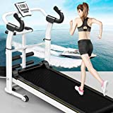 Folding Treadmills for Home, Portable Foldable Compact Mini Under Desk Manual Treadmill with Incline for Apartment, Super Mute Gym Running Walking Machine, Exercise Equipment 300 lb Capacity (White)