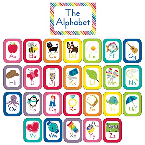 Schoolgirl Style - Just Teach   Alphabet Cards Bulletin Board Set