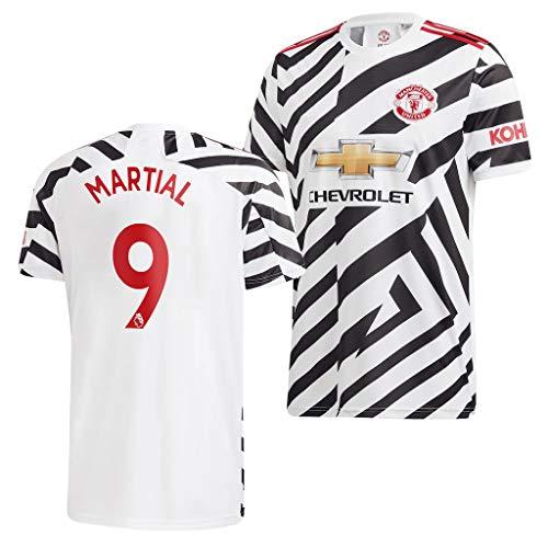 wokao Anthony Martial Manchester United Weiß,Maillot Anthony Martial Trikot 2020/21 für Herren & Jungen(Weiß,22)