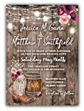 Country Wedding Invitations Personalized Set of 50