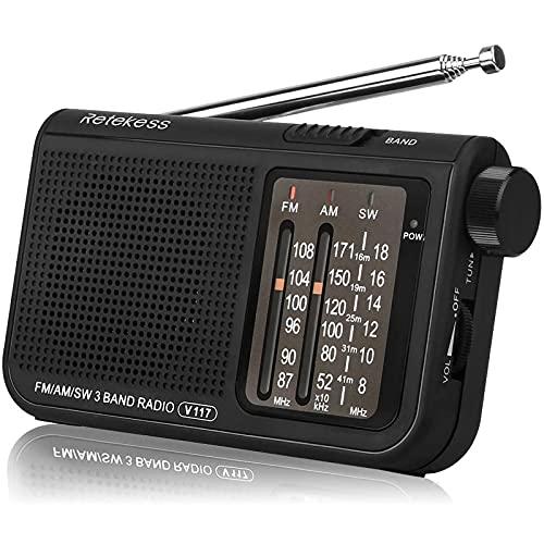 Retekess V117 Radio Portatile Tascabile AM/FM/SW 3...