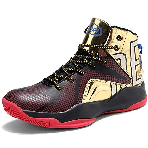 Elaphurus Herren Basketballschuhe Sneakers Ausbildung Outdoor Turnschuhe, 5 Gold, 39 EU