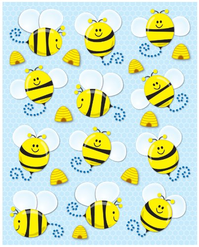 Bees Stickers 1-inch x 1-inch, 72ct