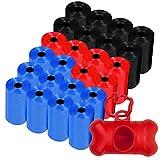 Bolsas excrementos perros (360) y un dispensador bolsas caca perro , el lote incluye las 360 bolsas en 24 rollos de 15 bolsa perros caca (Dispensador rojo)