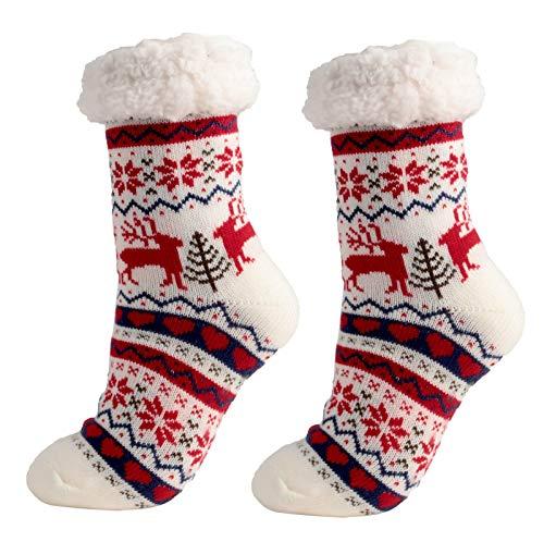 Moilant 1 Paar Damen Herren Mädchen Thermo Socken Stoppersocken Winter,Superweiche,...